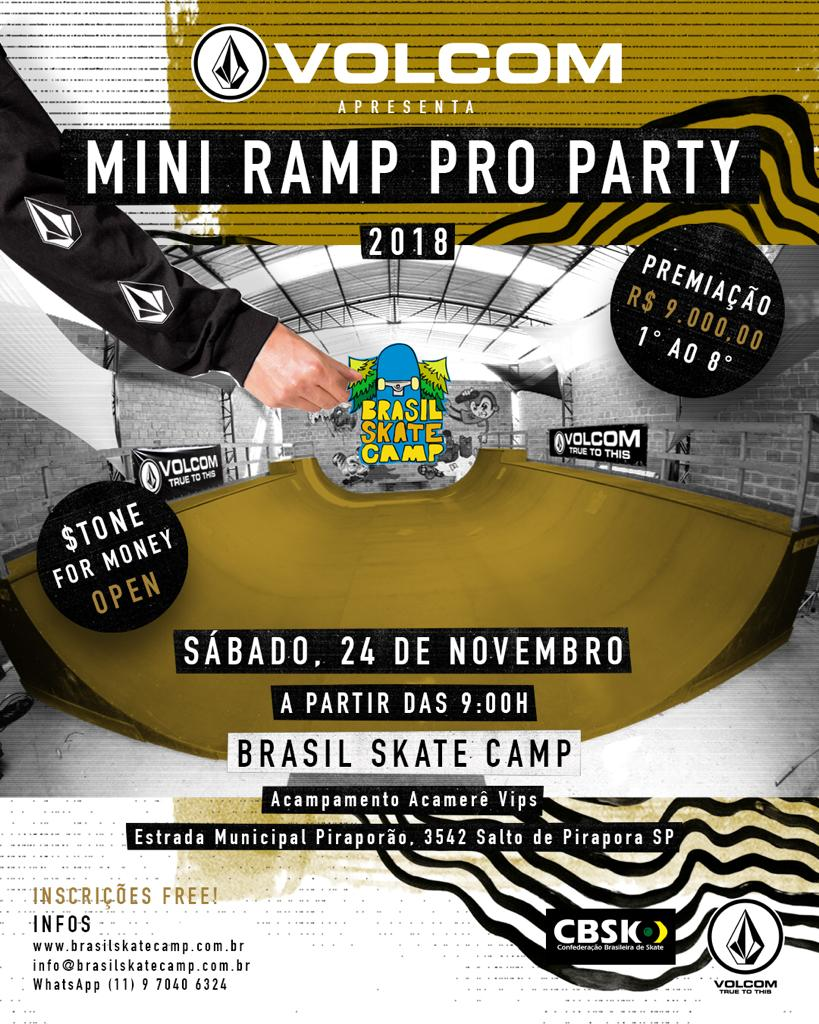 8a8b31432fb90 Venha prestigiar nosso campeonato profissional de mini ramp em parceria com  o Brasil Skate Camp